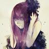 Purple haired girl